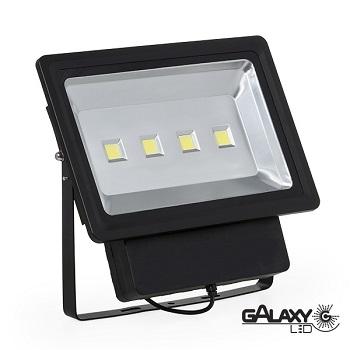 REFLETOR SLIM  LED PRETO 200W BIVOLT LUZ BRANCA  140101022  GALAXY