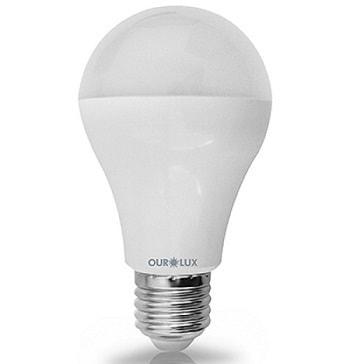 Lampada Led 9W 800lm Bivolt 2700K Branca Morna Luz Amarelada E27  03132 Ourolux