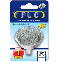 Led Dicroica com 18 leds 1W X 127V Branca Fria (Luz Branca) E27 JDR  - 04010035 - FLC