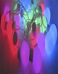 Festão com 20 Leds Coloridos Fio Transparente 127V - 19218 - Kadio