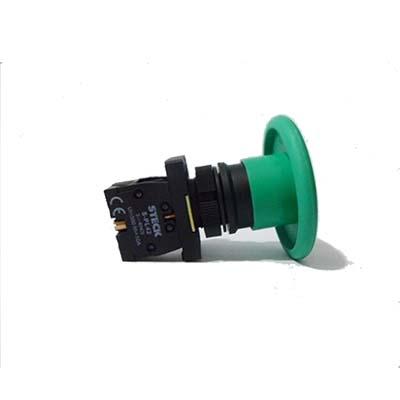 Botão Cogumelo (tipo Soco) a Impulsão Verde 60mm - Steck