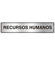 Placa de Aviso Recursos Humanos 5x25cm - C05112 - Indika