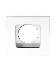 Spot de Embutir Quadrado Recuado Dirigível de Alumínio Para 1 Dicroica de Até 50w - Branco - Mf 129 Br/br - Metal Técnica.