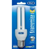 Lampada Eletronica Dupla 11W X 127V Branca Fria (Luz Branca) E27 - Embalagem com 10 Pe�as - 01010050 - FLC