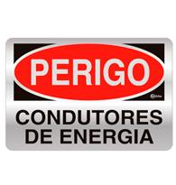 Placas de Aviso Perigo.condutores de Energia 16x25cm - C25031 16x25 - Indika