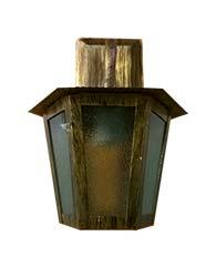Lanterna L-1-B Ouro Velho Sextavado 30cm x 19cm - L-1- B OV - Lustres Ideal