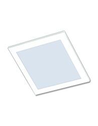 Luminaria de Embutir Quadrada Branca Para 2 Lampadas de 15W E27 Vidro Todo Jateado - 485E E27 - Spot Jaguara
