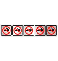 Placa de Aviso Proibido Fumar Pequena 5x25CM - C05077 - Indika