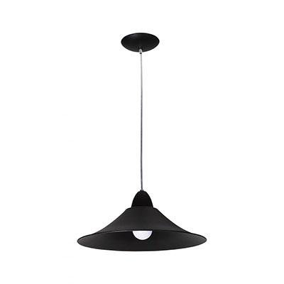 Lustre Pendente Preto Para 1 Lâmpada E27 – Kin Light