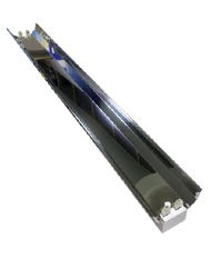 Luminária de Sobrepor 2x32W Industrial Branca com Refletor de Aluminio e com Soquete  SH02-236/D  B.Bauer