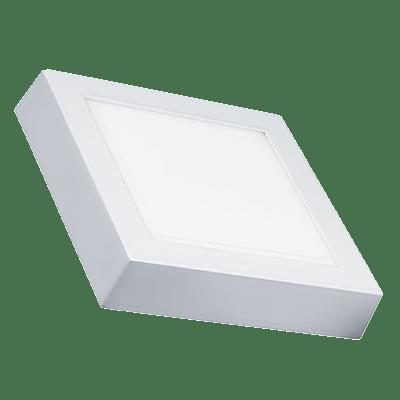 Luminária Painel Led Quadrado De Sobrepor 12W 17X17CM 3000K Luz Branca Amarelada 800 Lúmens 433058 Brilia