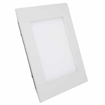 Painel de Led de Embutir Quadrado 6w Bivolt 3000k Luz Branca Amarelada 420 Lumens 9453 Gaya