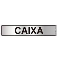 Placa de Aviso Caixa 5x25cm - C05066 - Indika