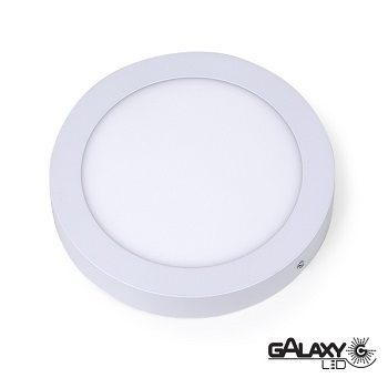 Painel Led Redondo de Sobrepor 18w 22,5cm 3000k Luz Branca Amarelada Bivolt 1800 Lúmens 140114017 Galaxy