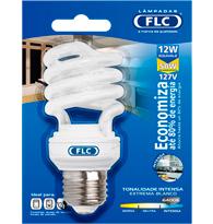 Lâmpada Eletrônica Espiral 12W X 127V Branca Fria (Luz Branca) E27 01072048 FLC