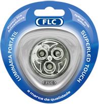 Lumin�ria Port�til com 3 Super Leds Prata sem fio e sem pilha Branca Fria (Luz Branca)  - 04040112 - FLC