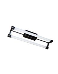 Luminaria Toledo Para 2 Lâmpadas Fluor Alumínio 2x20w Preta - To 2x20 Pt - Tualux