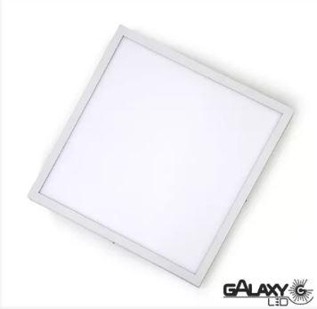 Plafon Led Sobrepor 18w 22,5x22,5cm 6500k Branca Fria Quadrado 2061s Galaxy