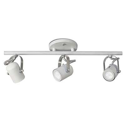 Spot Em Alumínio Zeus Trilho Branco Para 3 Lâmpadas Gu10, Sport Line