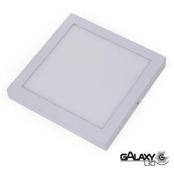 Painel Led Quadrado de Sobrepor 24W 30X30CM 3000K Luz Branca Amarelada Bivolt 140114023 Galaxy