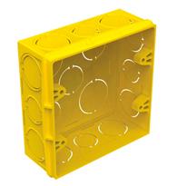 Caixa de Embutir 4X4 de PVC Amarela - 57500/042 - Tramontina