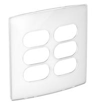 Placa 4x4 3+3 Postos Separados Sugar Gloss - 663433 - Pial Legrand Nereya