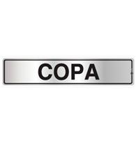 Placa de Aviso Copa 5x25cm - C05012 - Indika