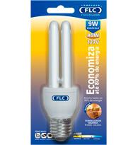 Lâmpada Eletrônica Dupla 9W X 127V Branca Quente (Luz Amarela) E27 01010026 FLC