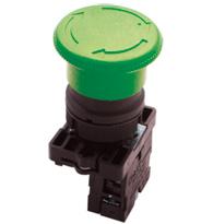 Botão Retencão  (tipo Soco) 40mm Verde Steck Slpfn2r4na