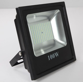 Projetor LED Slim Quadrado Preto 100W 6500K (Luz Branca)  Bivolt  B. Bauer  LTFL1006500KSLIM