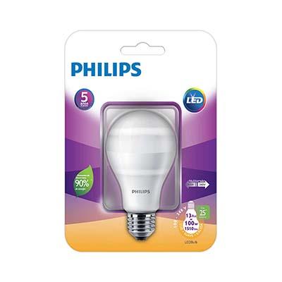 Lâmpada Led Bulbo 13,5w 6500k E27 1510 Lúmens Certificada, Philips