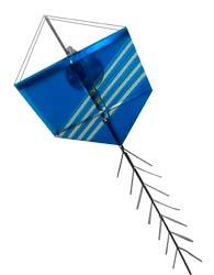 Plafon Pipa em Vidro com Canopla Redonda Para 1 L�mpada E27 de At� 25W - Azul - 557/1 AZ - Thema Lustre