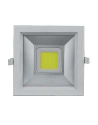 Super Led Downlight Quadrado 20W Bivolt Luz Branca Fria 4200K IP20 - LO188020NV - B.Bauer