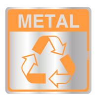 Placa de Aviso Reciclagem Metal 16x16cm - C16032 - Indika
