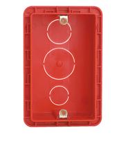 Caixa Embutir 4x2 PVC com Orelha Metálica Vermelha - 689014- Pial Legrand
