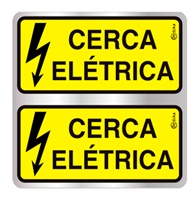 Placa de Aviso Cerca Elétrica 16x16cm - C16036 - Indika