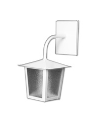 Lanterna L-2-B Branco Quadrado 29cm x 14cm - L-2-B BR - Lustres Ideal