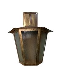 Lanterna L-3-B Ouro Velho Sextavada 36cm x 26cm - L-3-B - Lustres Ideal