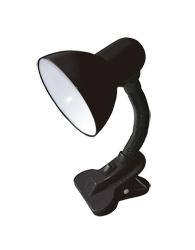 Luminária de Mesa com Clip Para 1 Lâmpada E27 - Preta - LMP108PT - Kin Light