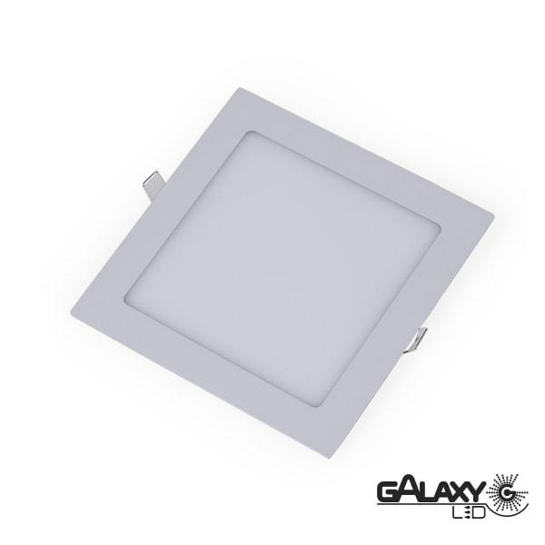 Painel Led Quadrado de Embutir 4W 10,5X10,5 cm  3000K Luz Branca Amarelada 400 Lúmens 140120001 Galaxy