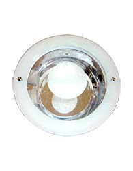 Luminaria de Embutir Redonda Grande Para 2 Lampadas de 15W E-27 Com Vidro e Com Parafuso - ILDC802 E27 - Penske
