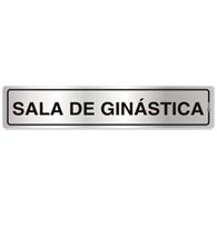 Placa de Aviso Sala de Ginástica 5x25cm - C05123 - Indika