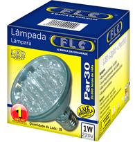 Led Par 30 com 18 leds 1W X 220V Amarela E27 - 04020162 - FLC