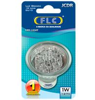 Led Dicroica com 18 Leds 1W X 127V Branca Fria (Luz Branca) GU10 JCDR  - 04010442 - FLC