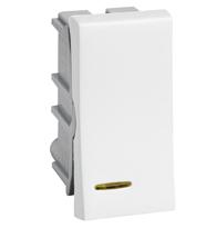 Módulo Interruptor Paralelo C/ Luz 10a 250v Ref. 611021 - Pial Legrand Plus