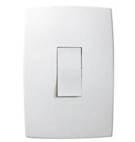 Conjunto Placa 4x2 Com 1 Interruptor Simples Vertical Ref. 611100 - Pial Legrand Plus