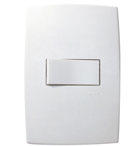 Conjunto Placa 4x2 com 1 Interruptor Simples Horizontal Ref. 611110 - Pial Legrand Plus