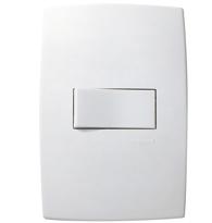 Conjunto Placa 4x2 com 1 Interruptor Paralelo Horizontal Ref. 611111 - Pial Legrand Plus