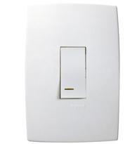 Conjunto Placa 4x2 com 1 Interruptor Simples Vertical C/ Luz Ref. 611120 - Pial Legrand Plus