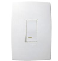 Conjunto Placa 4x2 para 1 Interruptor Paralelo Vertical C/ Luz Ref. 611121 - Pial Legrand Plus